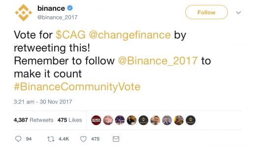 バイナンス (BINANCE)での投票方法のやり方と過去の投票結果を紹介|銘柄を応援して億り人になろう